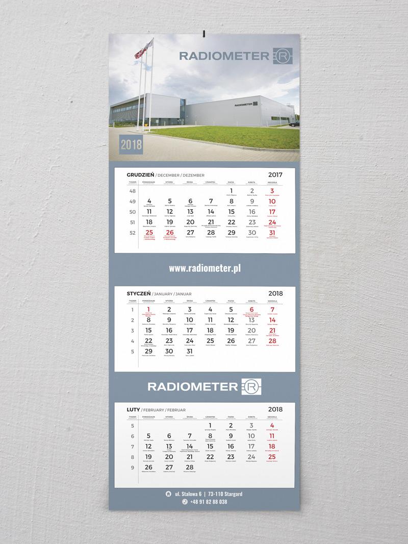 Radiometer kalendarz trójdzielny