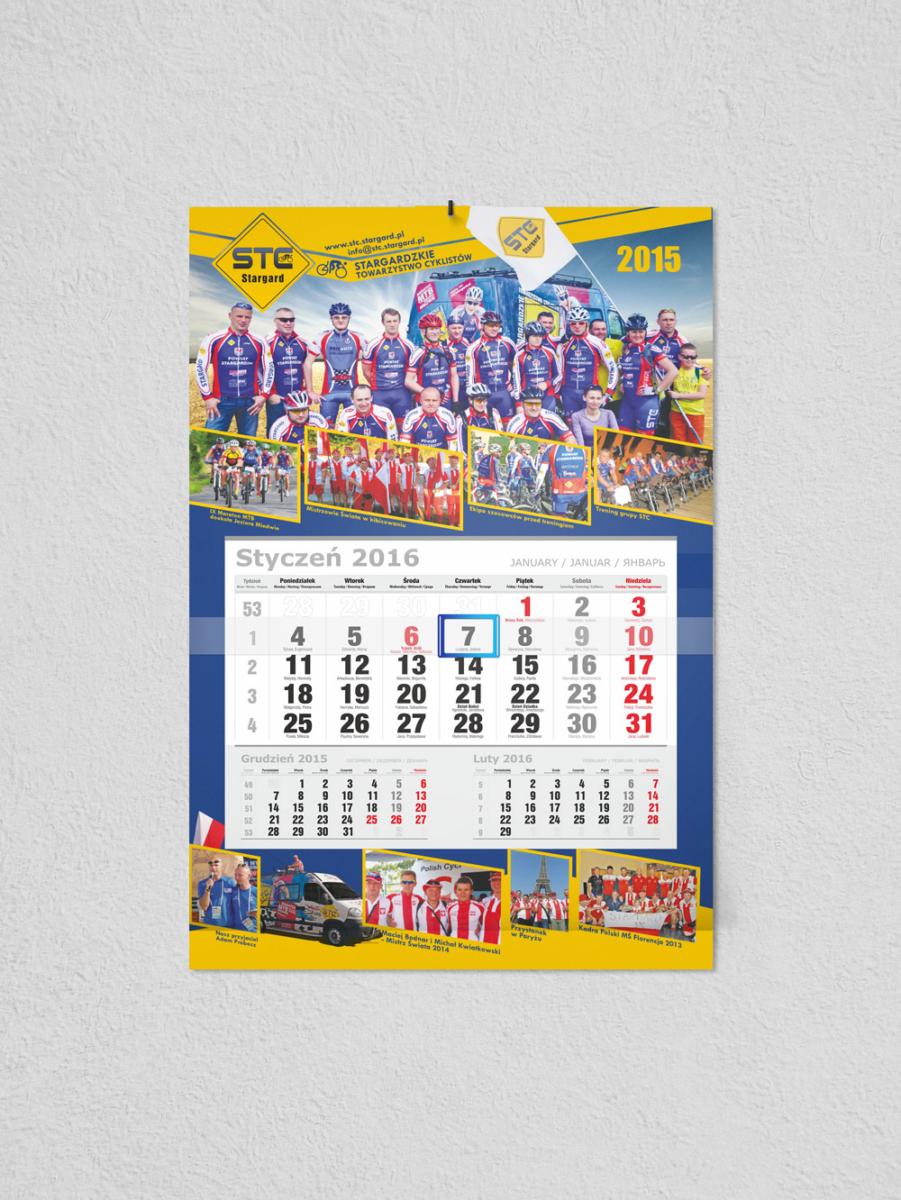 Kalendarz jednodzielny STC 2015