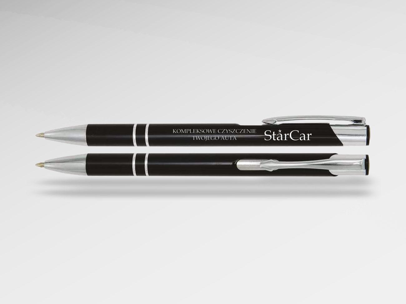 Długopisy metalowe z grawerem Stargard