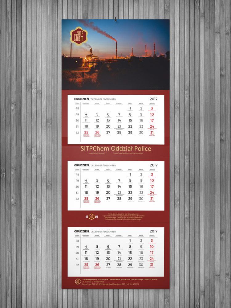Kalendarz trójdzielny SitpChem Police