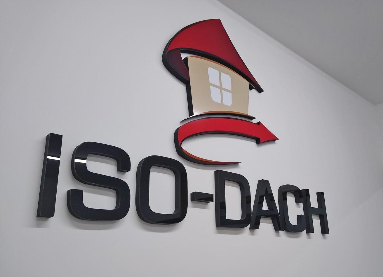 Logo 3D dla ISO-DACH Wdmuchiwanie ociepleń
